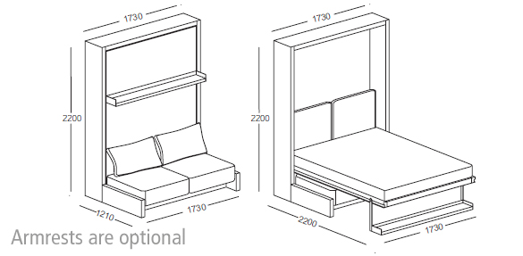 Nuovoliola wall bed clei wall beds london free for Wall mounted loft bed plans