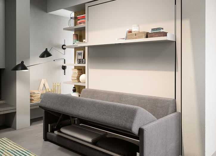 Oslo sofa wall bed unit clei london uk for Italian wall bed system