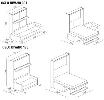 Oslo sofa wall bed unit clei london uk oslo wall bed sizes ccuart Gallery